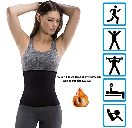 1ce70a12229e8 Buy ADA Hot Body Slim Shaper Slimming Belt - ADA Hot Body Shapers Tummy  Trimmer Neotex Belt (Unisex) Online at Low Prices in India - Amazon.in