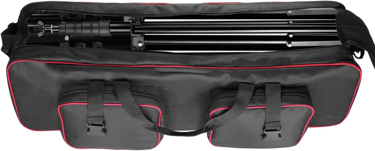 Photo Lighting Bundle Kit Padded Compartments Neewer Photo Studio Equipment 36x9x9 inches//91x23x23 Centimeters Large Carrying Case with Strap for Tripod Big Cushion Storage Light Stand