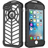 iPhone SE/5S/5 Spider Waterproof Case,iThrough iPhone SE 5S Underwater Case, Rain Shock Snow Dust Dirt Proof,Outdoor Sports Full-Seal Protective Carrying Case Cover for iPhone SE 5S 5 (Transparent)