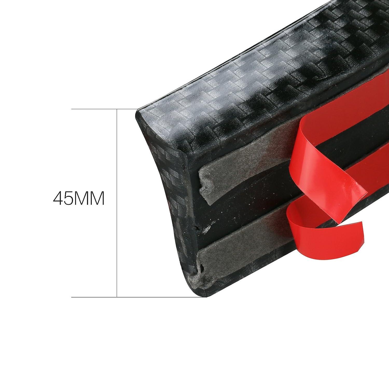 100/% Waterproof Protection GOGOLO Glossy 4.9ft//150CM Universal Rubber Car Rear Roof Lip Spoiler Strip for SUV Rear Bumper Lip 150cm x 3.5cm Black