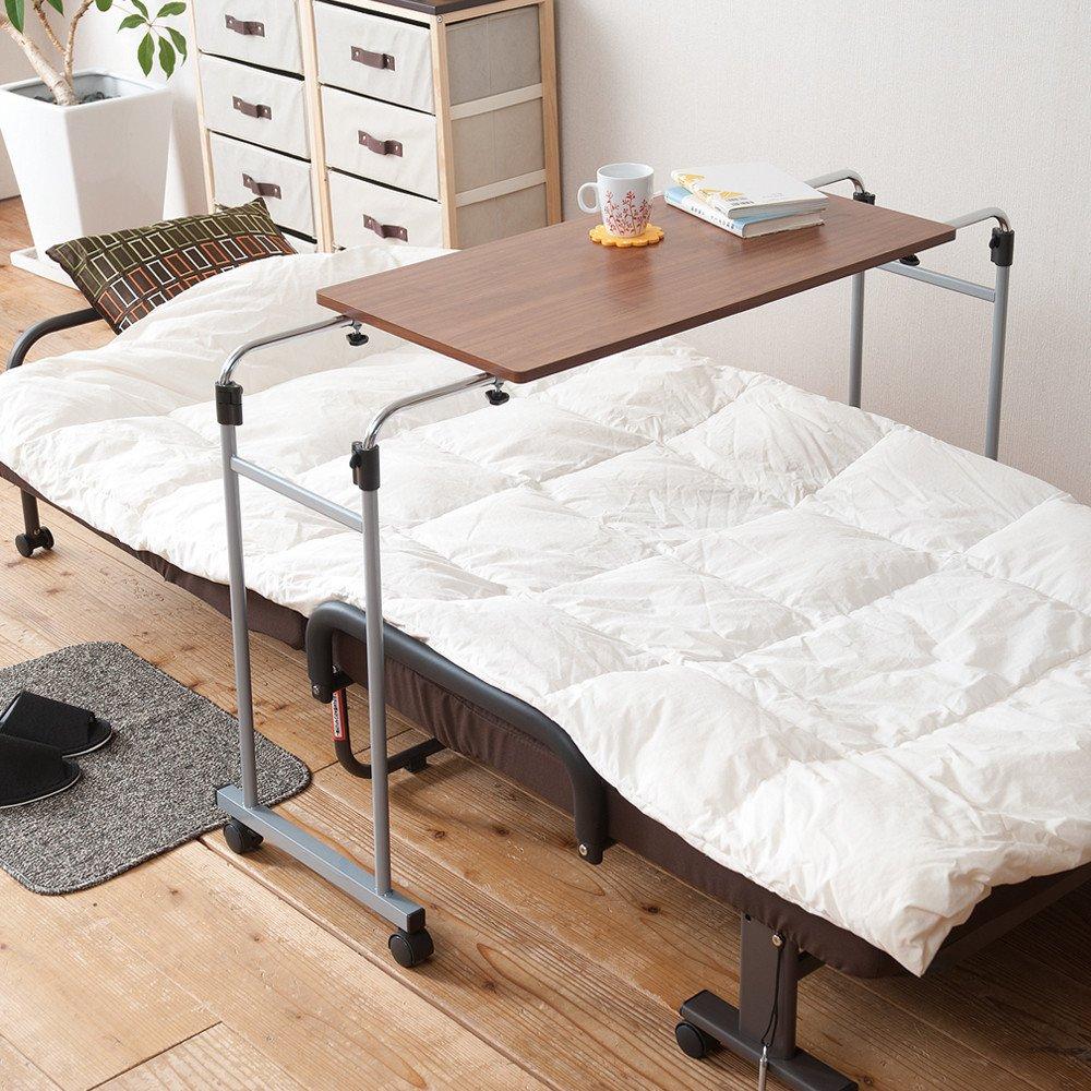 伸縮式ベッドテーブルNK-512キャスター付き B004AZII2I