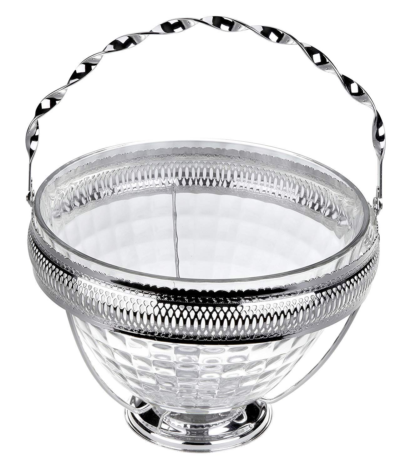 Fruit Bowl in Silver Plated Holder Queen Anne Tableware Ltd 023
