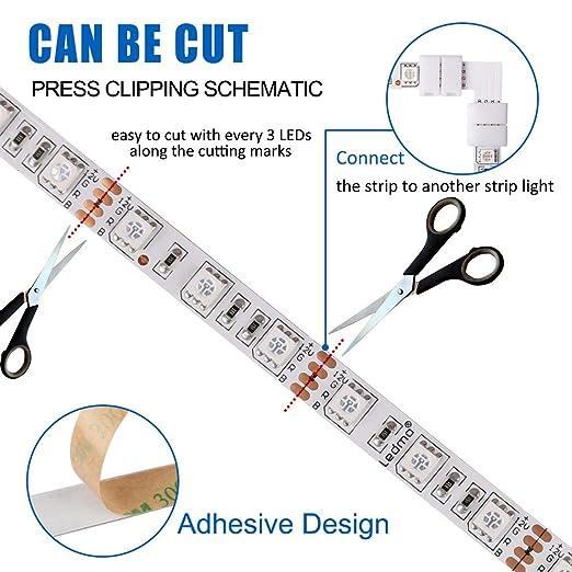 LEDMO led streifen stripes RGB 5m,lichtband band IP20,strip ...