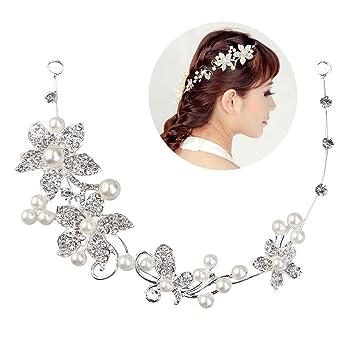Tinksky Hochzeit Diadem Braut Tiara Stirnband Amazon De Computer