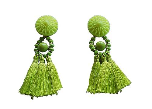 Orecchini con frange nappe Boho Stick antiallergische Acquamarina NUOVA MODA  pendenti donna gioielli alla moda e base metal 2cebe603d9e