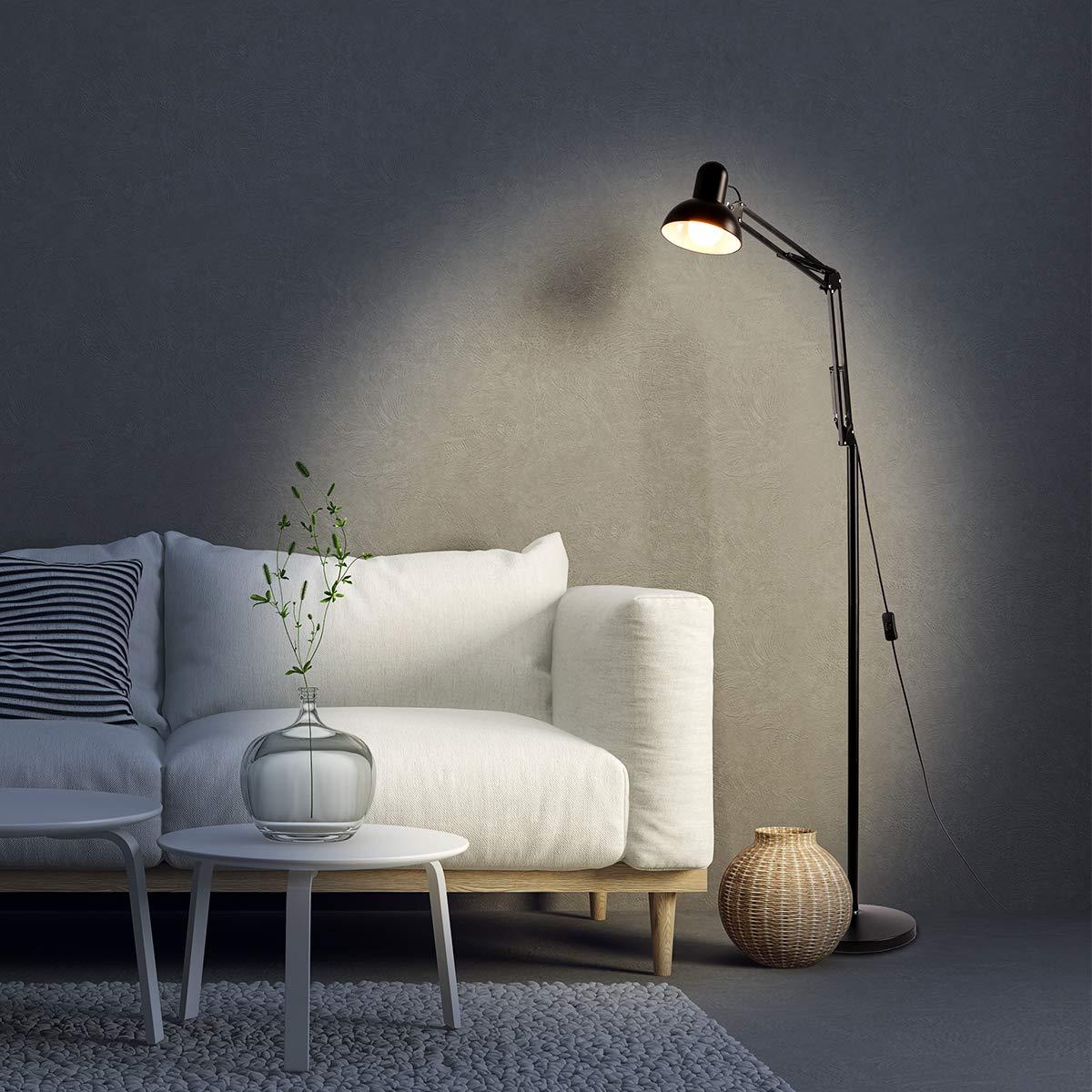 Sunix LED Reading Floor Lamp, Dimmable, Energy Saving, Full Spectrum Natural Daylight Sunlight, LED Standing Light with Adjustable Gooseneck for Living Room Bedroom Office Task (Including a Bulb)