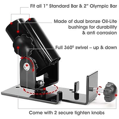 "Universal T-Bar Row Platform 360° Swivel Landmine For All Bars from 1/"" to 2/"""