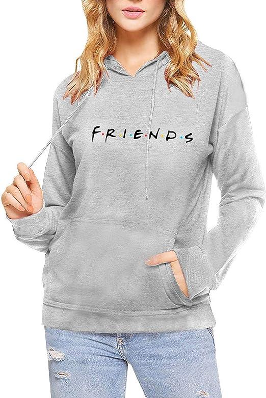 Sudadera Friends Mujer Serie con Capucha Moda Casual Pullover Hip Hop Danza Camisetas Mejores Amigas Manga Larga Encapuchado Oto/ño Invierno Primavera para Gemelos Hermanas Baggy Jumper Top Streetwear