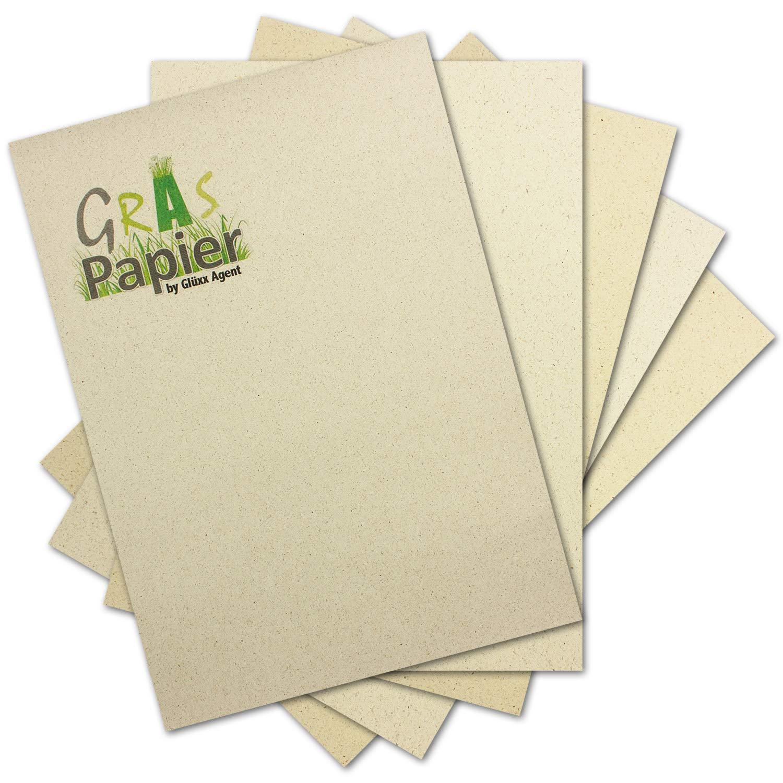 250x Graspapier DIN A4-200 g m² - hergestellt aus Gras von der Schwäbischen Alb - idealer Karten-Karton und Bastelpapier - duftet nach Heu - Graspapier by Glüxx-Agent B07PRCY72B | Angemessene Lieferung und pünktliche Lieferung