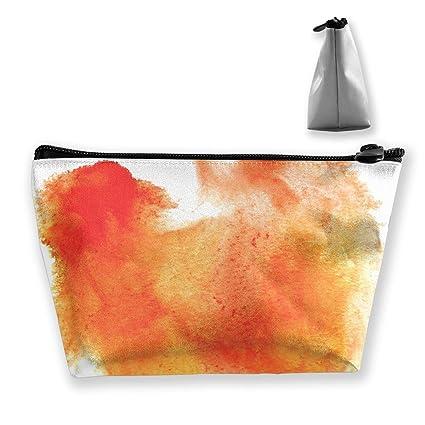 Red Water Brush Watercolour Orange Stroke Color Spot Blotch ...