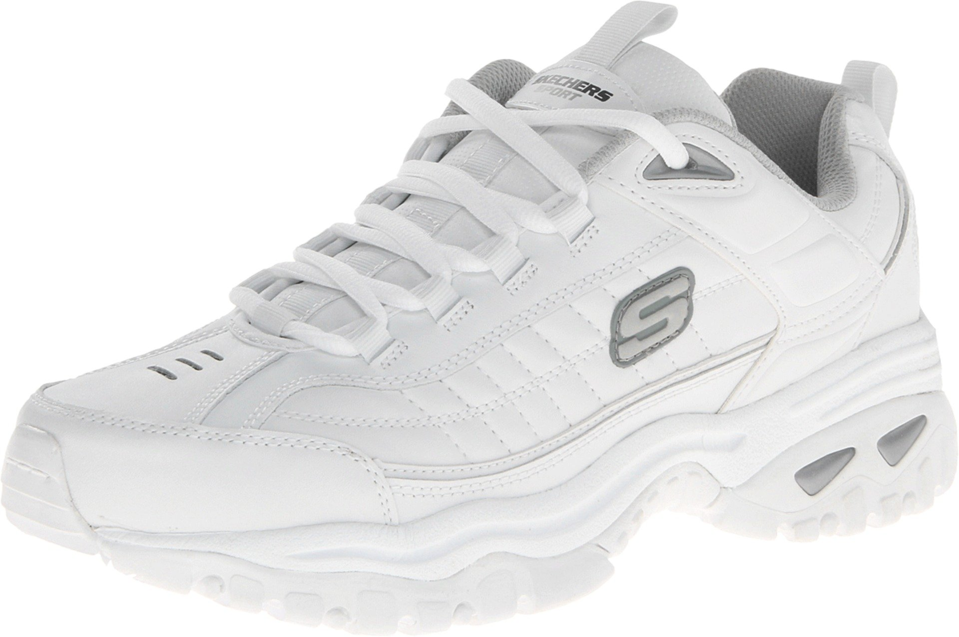 Skechers Men's Energy Afterburn Lace-Up Sneaker,White,10.5 M US