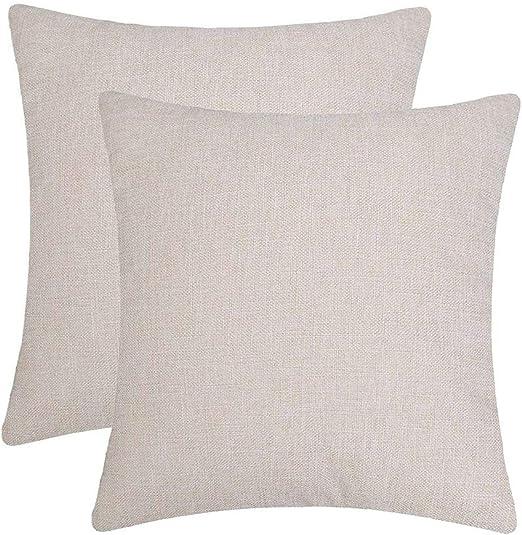 6PC//Set Home Pillowcase Cotton Linen Sofa Cushion Zipper Throw Pillow Cover W2