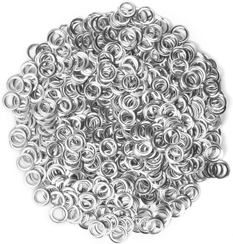 Kreema 3mm Metal Eyelets Grommets with Washer Punch Tool for Leather Craft DIY Clothes Canvas Scrapbooking