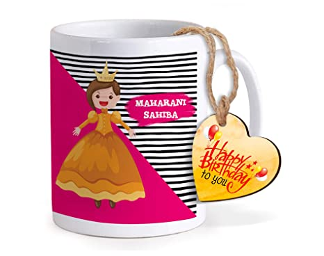 TIED RIBBONS Birthday Gift For Younger Sister Printed Coffee Mug With Wooden Tag