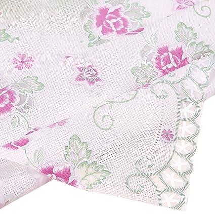 NATIVEDEN Manteles clásicos de encaje blanco para bodas elegantes y elegantes, rectangulares, diseño vintage