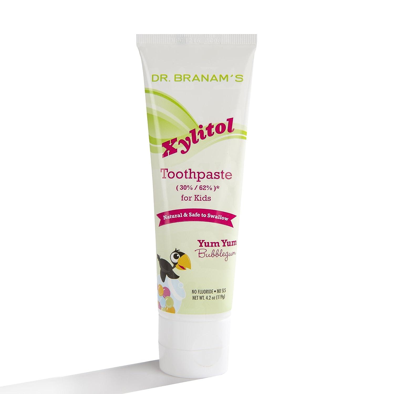 Branam Oral Health Xylitol Toothpaste for Kids Yum Yum Bubblegum - 4.2 Oz BRANAM ORAL HEALTH TECH 1076827