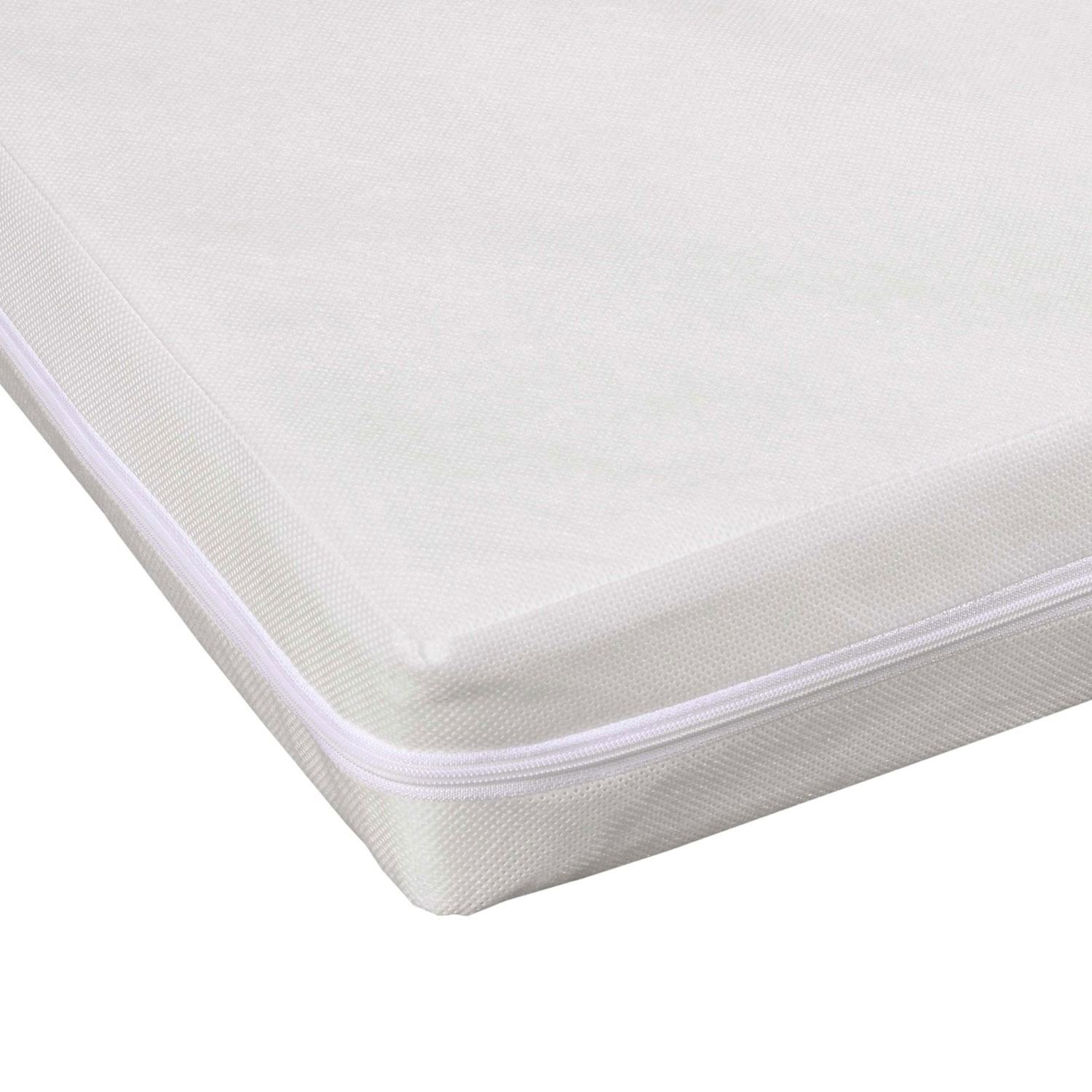 Homescapes Essential Comfort Cot Bed Hypo-allergenic Mattress wipe clean and washable cover 75mm deep, 70 x 140 cm (2'3.5' x 4'7') 70 x 140 cm (2' 3.5 x 4' 7)