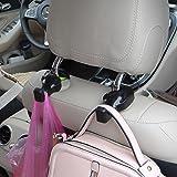 IPELY Car Vehicle Back Seat Headrest Hanger Holder Hooks (Black -Set of 2)