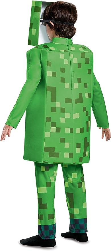 Cod.326781 Creeper-Kostüm für Kinder Minecraft grün-schwarz