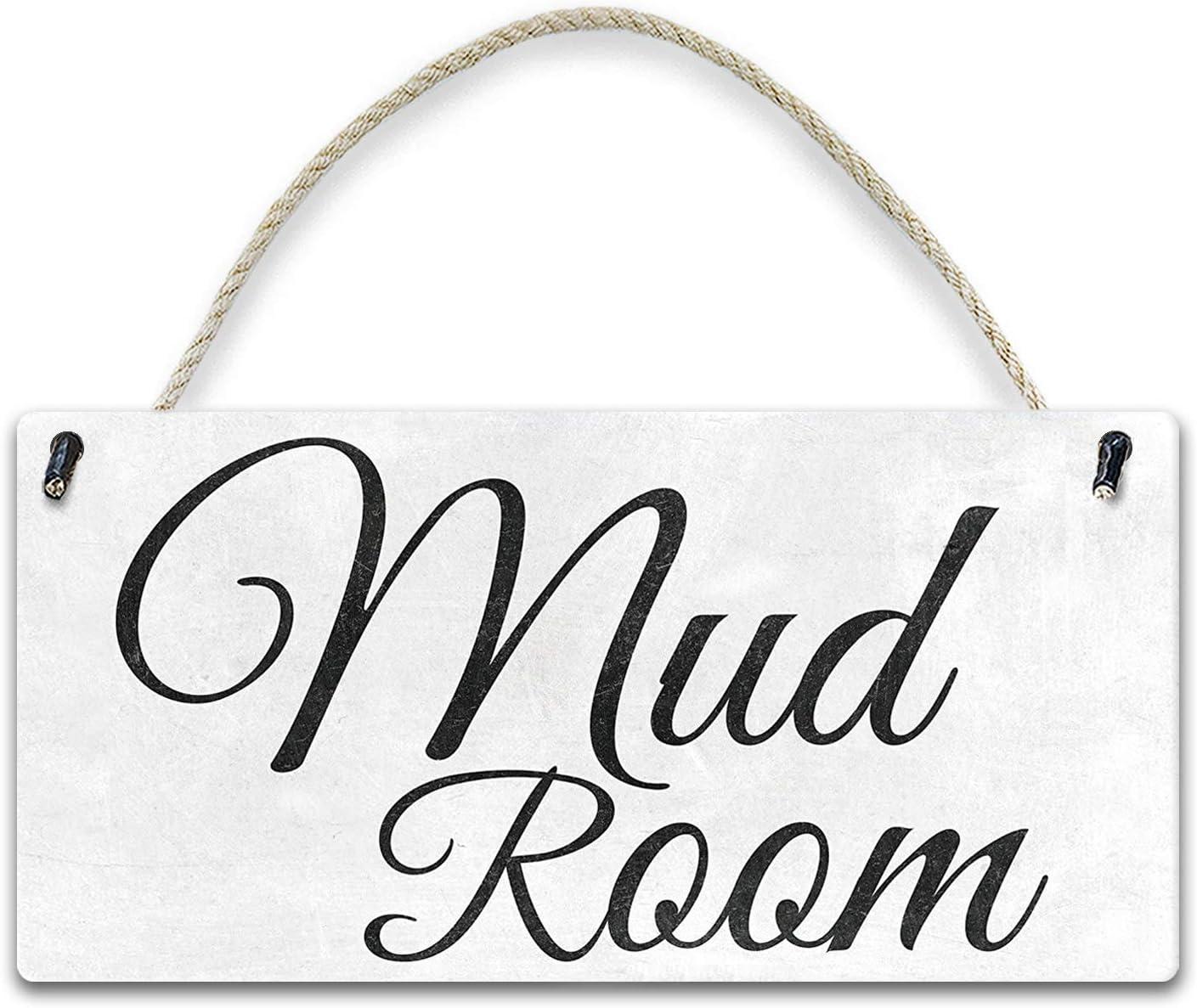 YILMEN Wooden Sign Mud Room for Mud Room 12