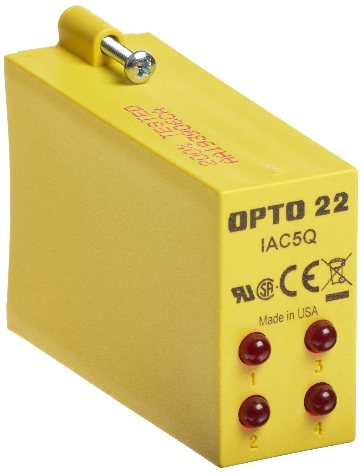Opto 22 IAC5Q AC Input, 4 Channel, 90-140 VAC, 5 VDC Logic, 4000 Vrms I/O Isolation, 5 mA Input Current