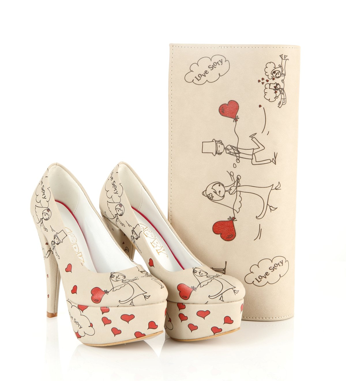 Goby Women Heel Shoes (Love Story ST7011) (7 US)