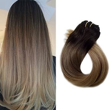 Amazon Com Clip In Hair Extensions Real Human Hair 120g 7pcs Dark