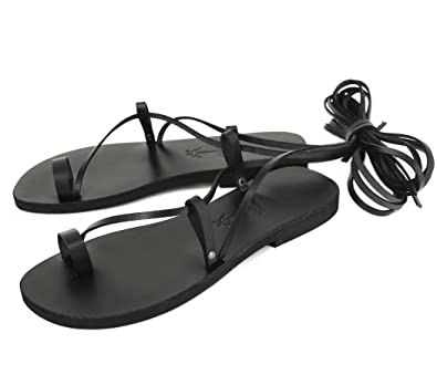 8b732e824b26a Amazon.com   Barefoot Lace Ups, Toe Ring Stylish Anklet Sandals, Tie ...