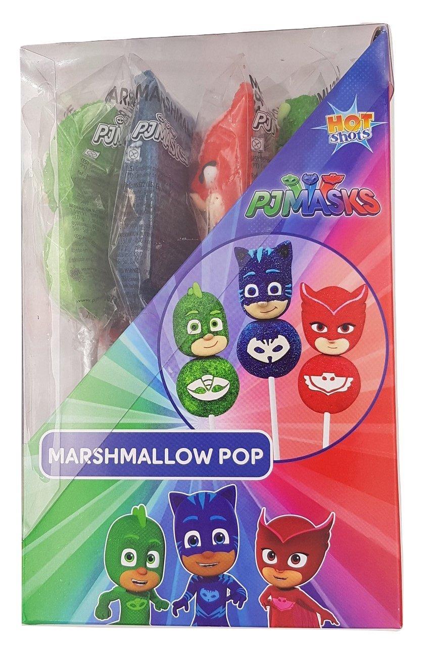 PJ MASKS - Piruleta de marshmallow - Pincho de espuma dulce - 16 Unid: Amazon.es: Alimentación y bebidas
