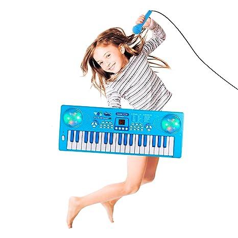 Shayson Piano para niños, tecla 37 Teclado electrónico multifunción Juego Piano Órgano con micrófono Juguete