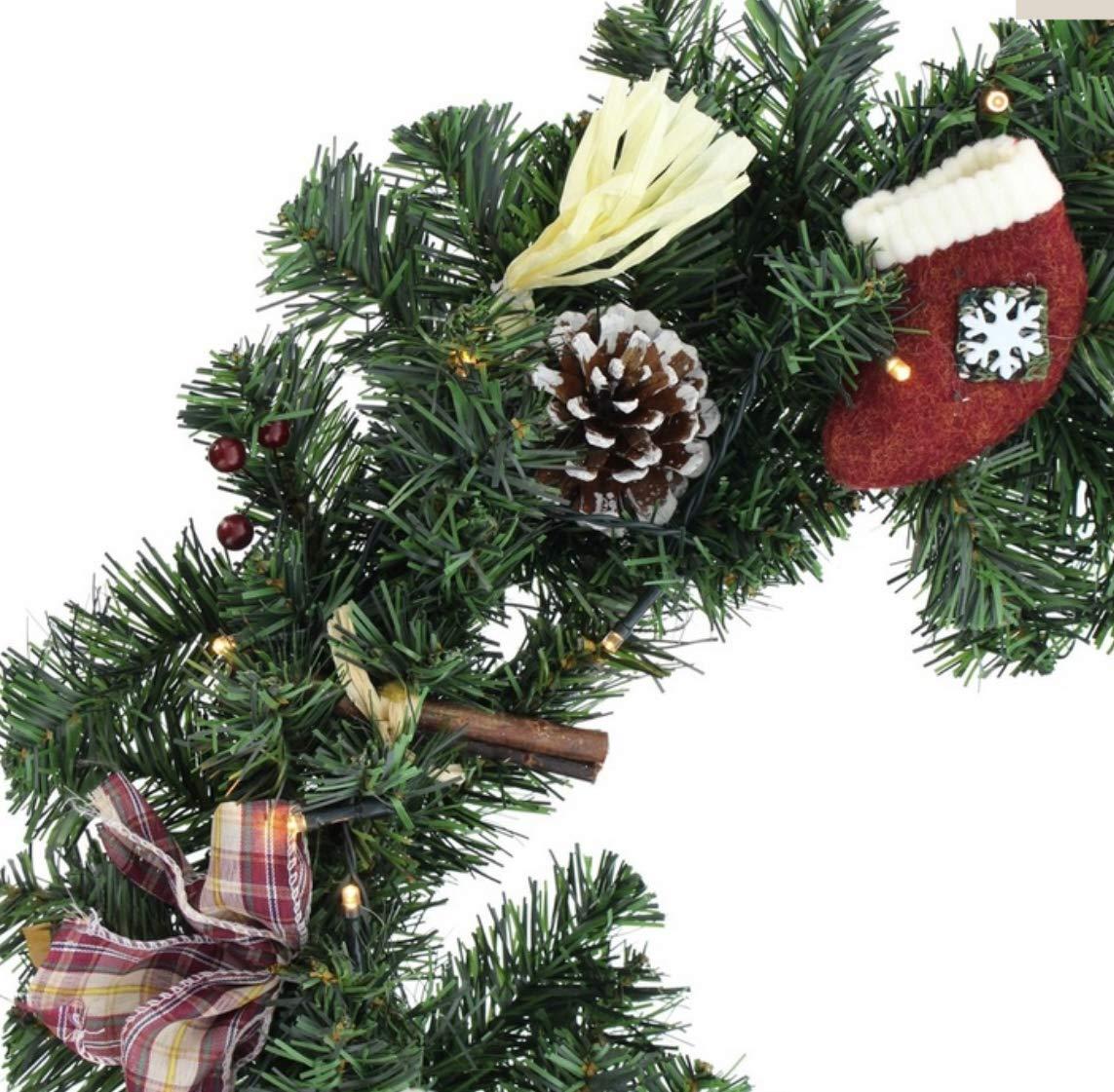 Weihnachtsbeleuchtung Kranz.Adventskranz Türkranz Weihnachtsbeleuchtung Led Beleuchtung Xxl ø 45