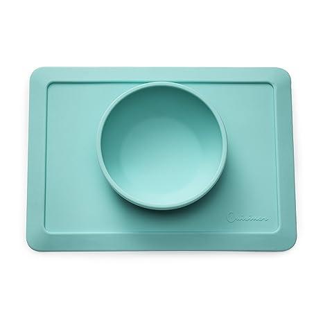 Cuisiner silicona base de mesa con cuenco para bebés/niños pequeños, antideslizante Juego de