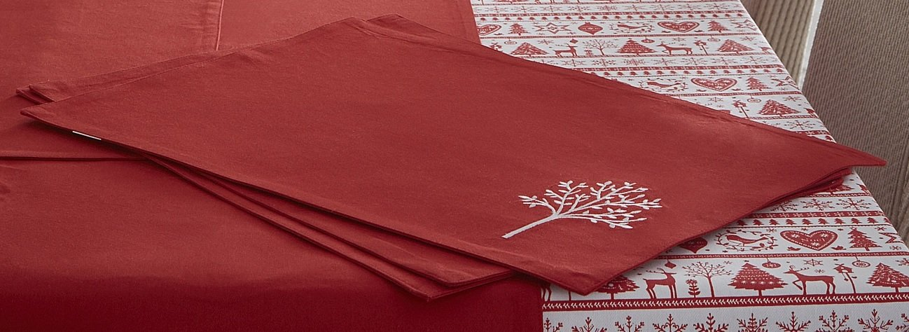 Chrismas Noel Red & White Placemat (Standard) Portfolio