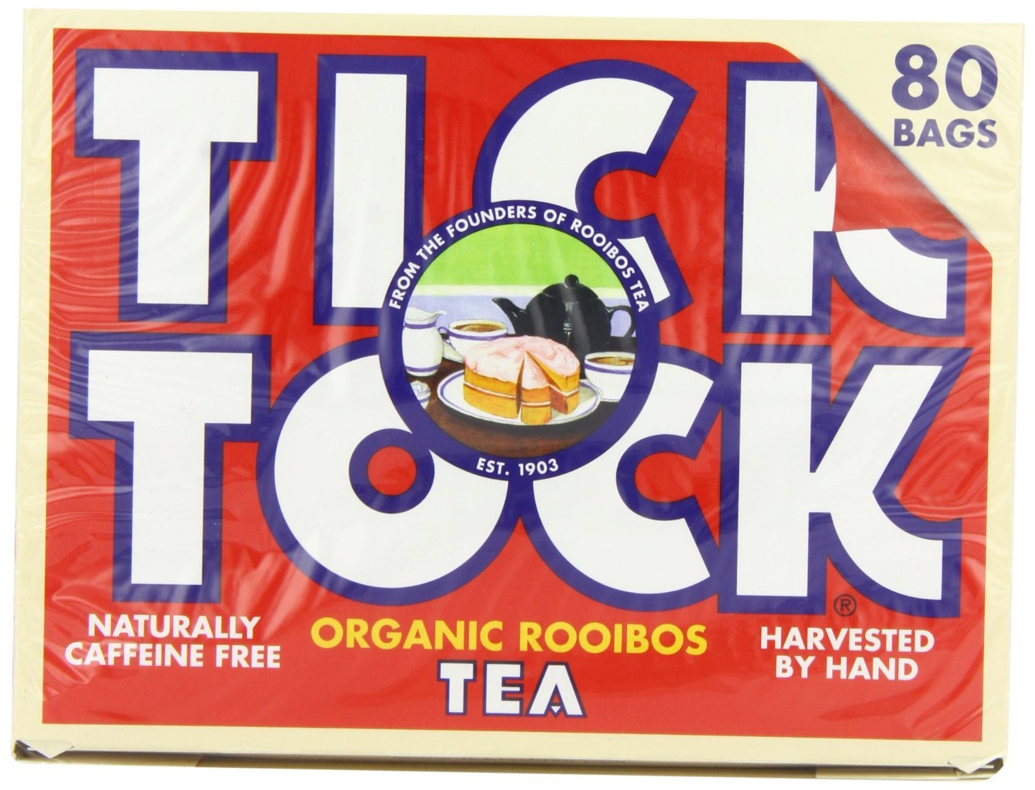 Tick Tock - Organic Rooibos Tea | 80 Bag
