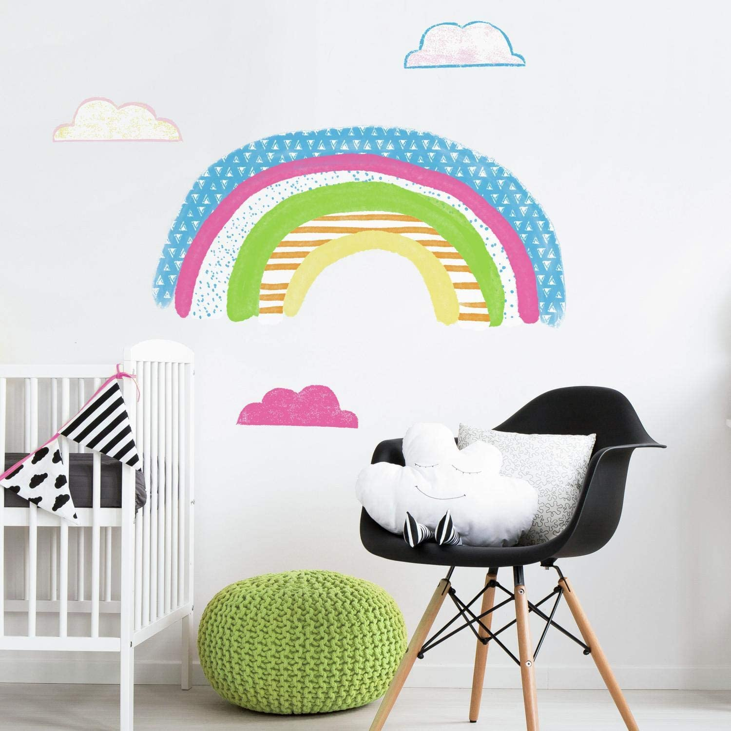 Roommates Pattern Rainbow Peel And Stick Giant Wall Decals