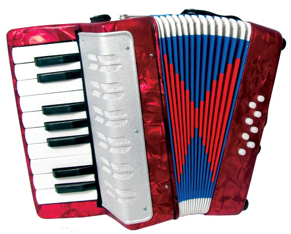 Scarlatti - Acordeón infantil, color rojo Scarlatti Accordions ST104 RED