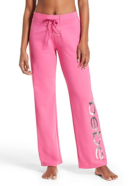 bebe Womens French Terry Yoga Jogger Sleep Sweatpants