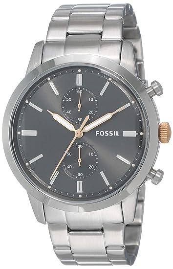 Fossil Reloj Analogico para Hombre de Cuarzo con Correa en Acero Inoxidable FS5407