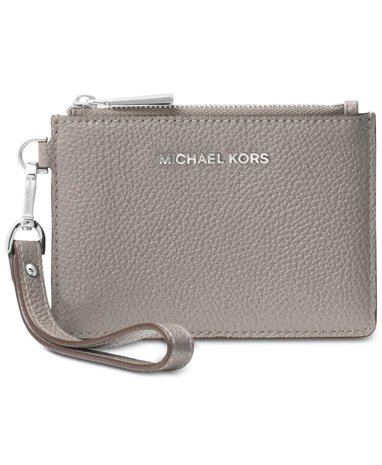 MICHAEL Michael Kors Leather Coin Purse, Color 081 Pearl Grey