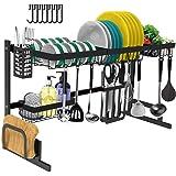 Dish Drying Rack Over The Sink -Adjustable Large Dish Rack Drainer for Kitchen Organization Storage Space Saver Shelf Holder