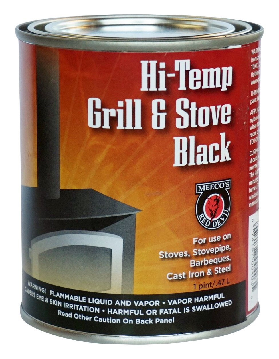 MEECO'S RED DEVIL 403 Hi-Temp Grill and Stove, Black MEECO MFG CO INC