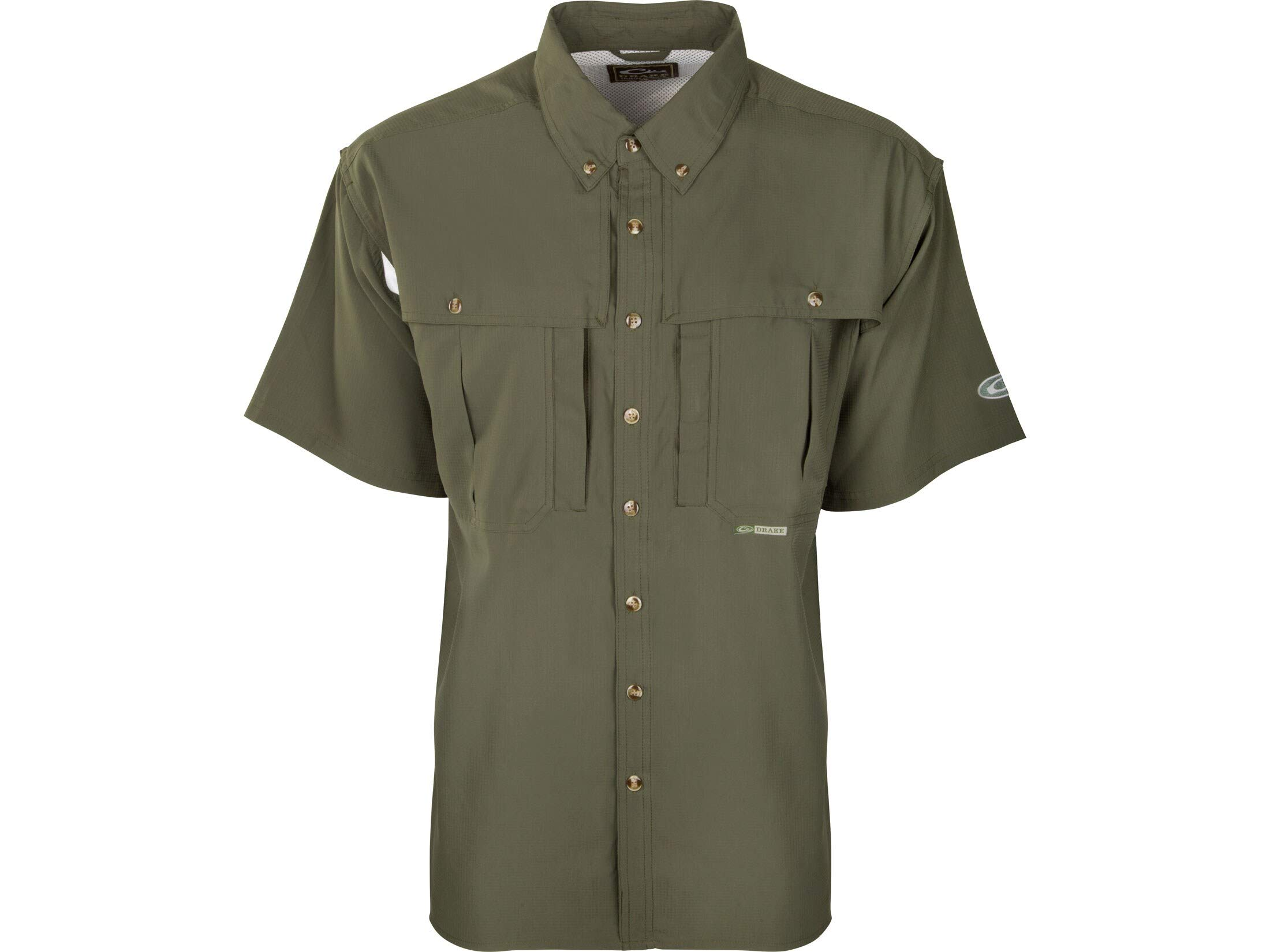Drake Men's Flyweight Wingshooter's Shirt Short Sleeve Polyester Beetle Green XL by Drake