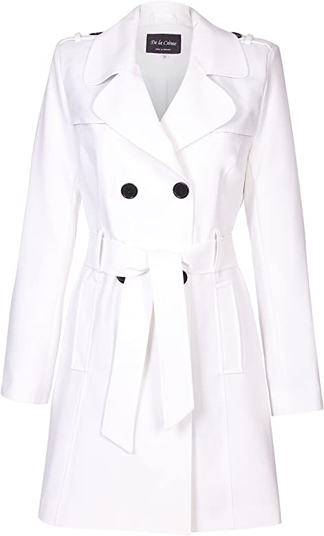 2020 preisreduziert Original kaufen De La Creme - Womens Spring Tie Belted Trench Coat