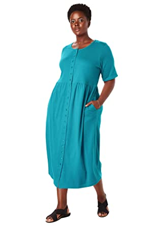 Only Necessities Women\'s Woman Within Plus Size Button-Front ...