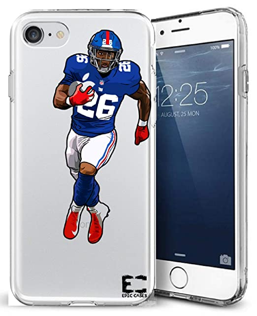 e7fe0b37aab7 iPhone6 Plus iPhone 7/iPhone 8 Plus Case Epic Cases Ultra Slim Crystal  Clear Football Series Soft Transparent TPU Case Cover Apple (Saquon Giants,  ...