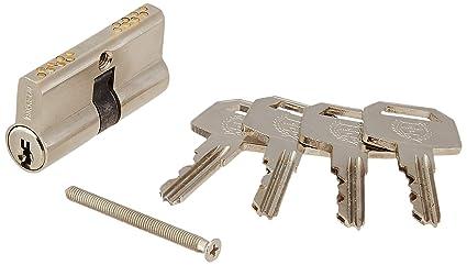 Harrison H-0540 60mm Brass Six Pin Smart Key Cylinder Set (Silver)