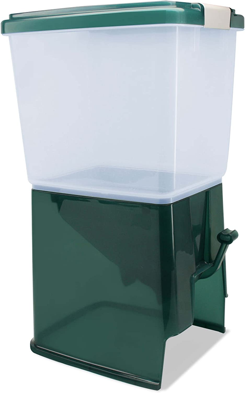IRIS Pet Feeder with Storage Container Green 10-Pound