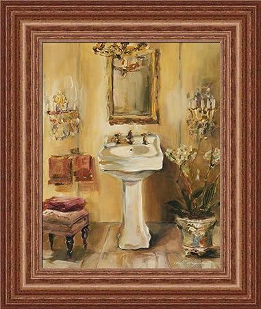 french bath iii by marilyn hageman bathroom spa wall art print framed dcor