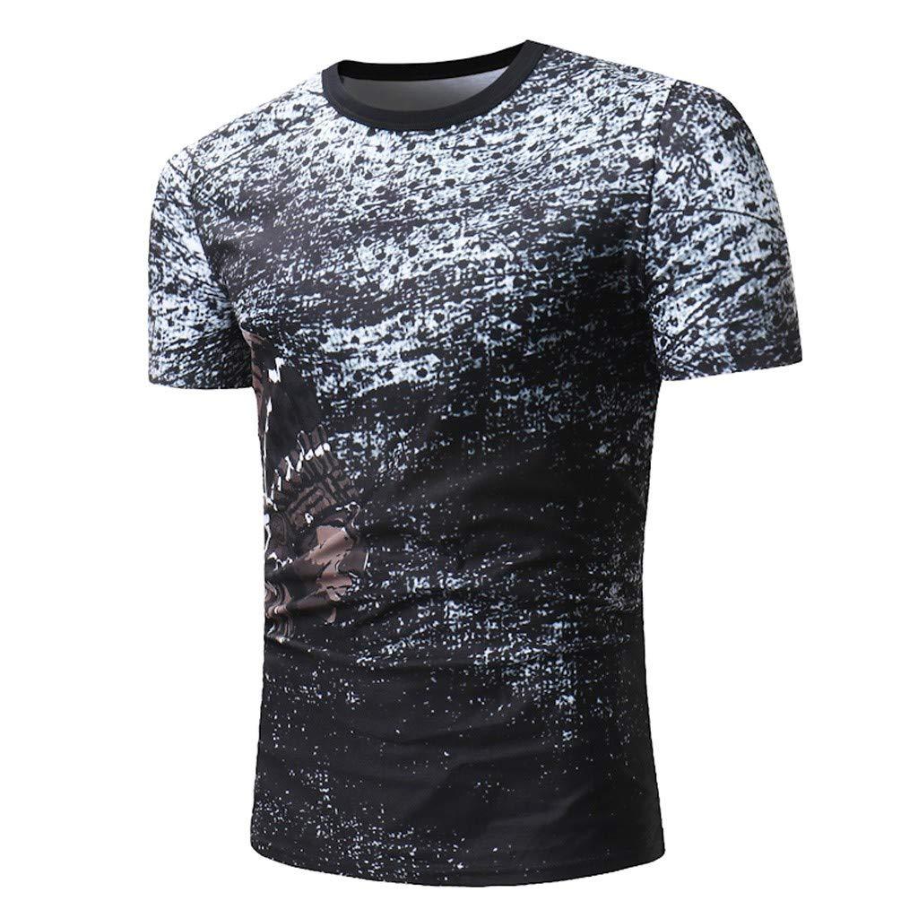83ed8f6e188 Amazon.com: Men Short Sleeve Flag Print Sport T Shirts Casual Fashion  Comfort Summer O Neck Tops Pullover Blouse: Clothing