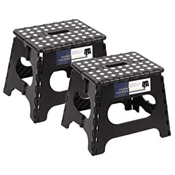 Stupendous Redcamp 11 13 15 18 Inches Folding Step Stool For Adults And Frankydiablos Diy Chair Ideas Frankydiabloscom